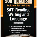Mc Grawhill 500 questions to know by test day (SAT reading, writing and language)