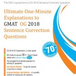 Wiley's Ultimate One – Minute Explanations to GMAT OG 2018 Sentence Correction Questions
