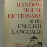 The Radom house dictionary of the english language – college edition