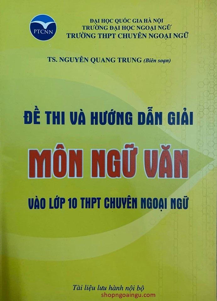 Bộ sách ôn thi chuyên ngoại ngữ (Trường THPT Chuyên Ngoại Ngữ) ba môn Tiếng Anh, Toán, Ngữ Văn