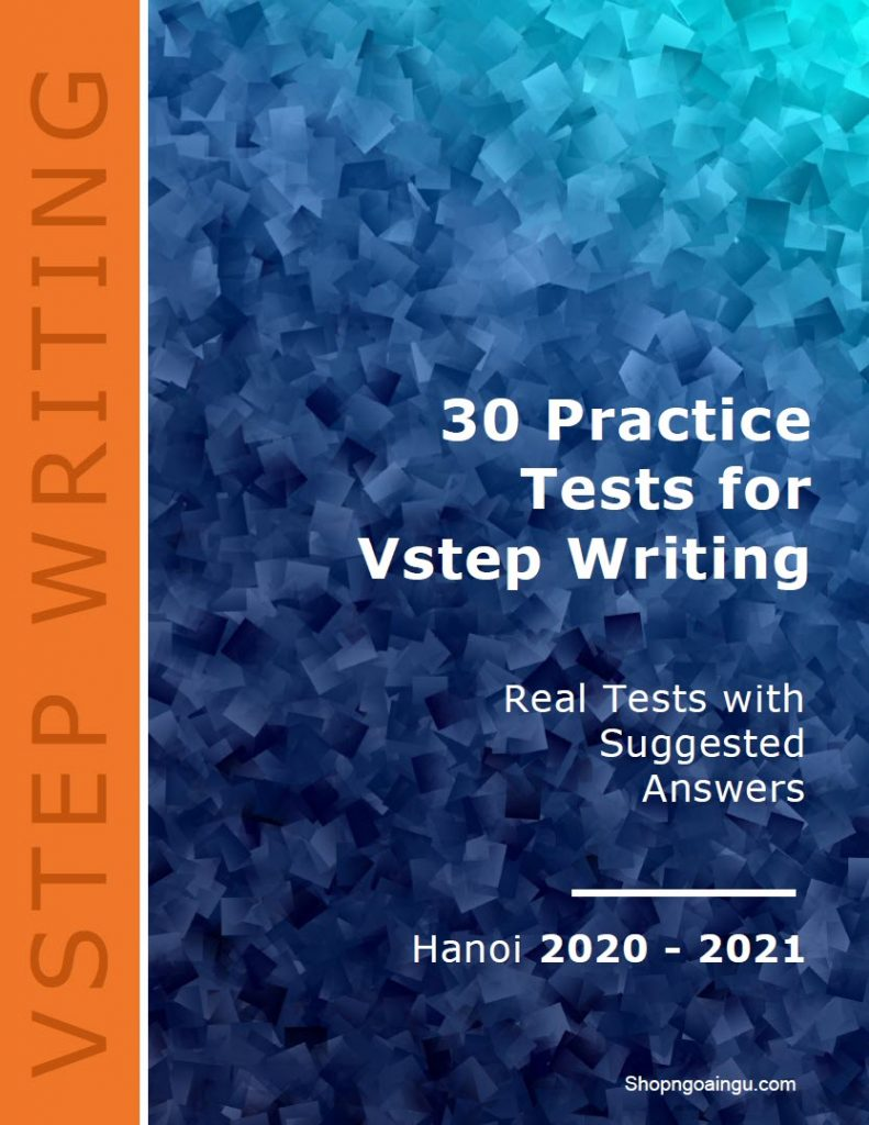 30 practice tests for Vstep writing, Hanoi 2020 - 2021
