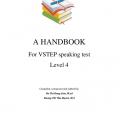 A Handbook for Vstep speaking Test, Do Thi Hong Lien, M.ed, Duong Thi Thu Huyen, M.A