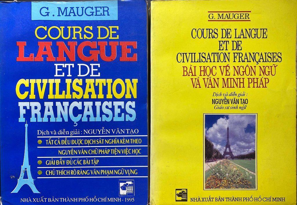 Bài học về ngôn ngữ và văn minh pháp 2 tập, G Mauger, Cour de langue et de civilisation francaises, Nguyễn Văn Tạo