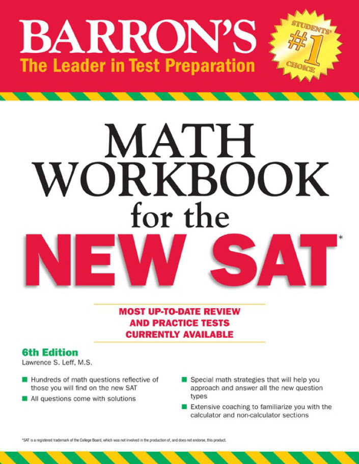 Barron's Math workbook for the new SAT - 6th