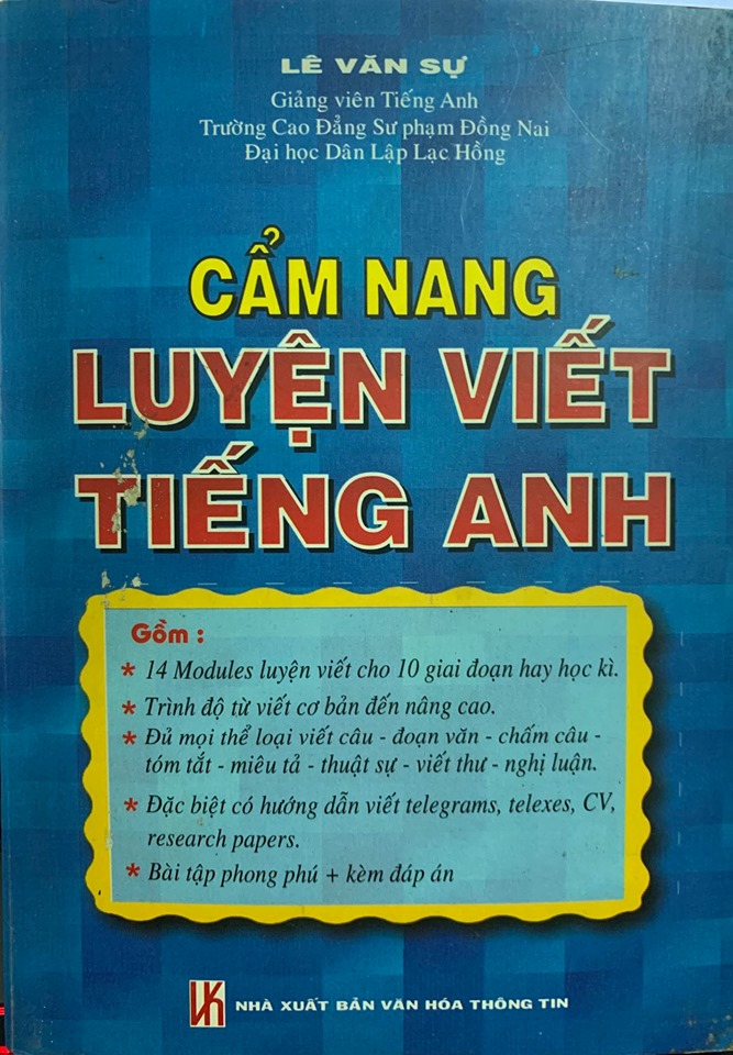 Cẩm nang luyện viết Tiếng Anh, Lê Văn Sự, nxb VHTT