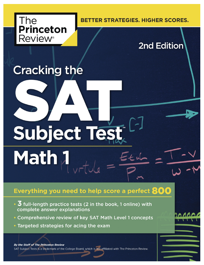 Cracking the SAT Subject Test math 1, the Princeton Review