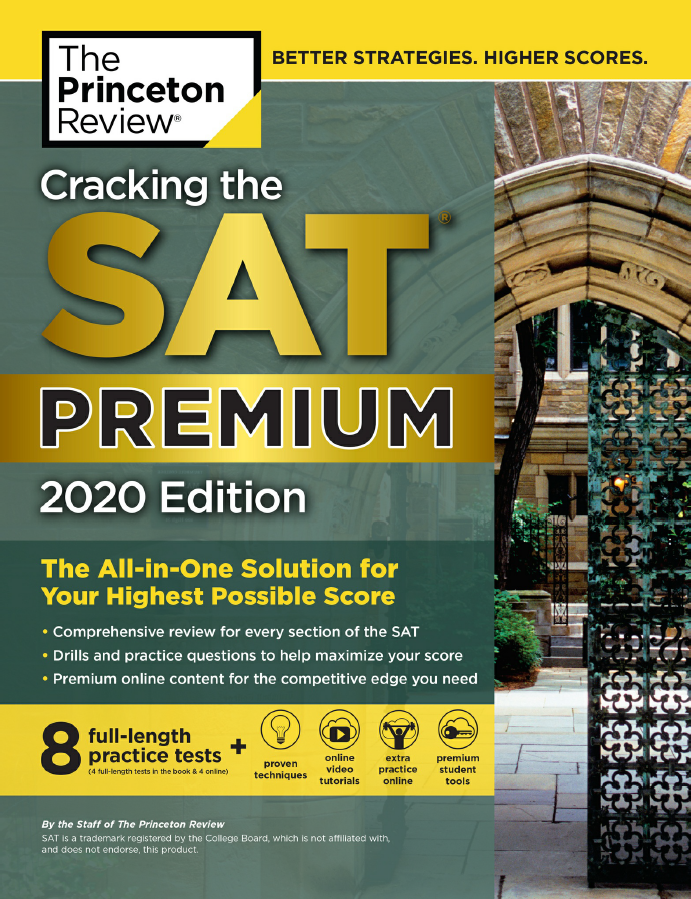 Cracking the SAt Premium 2020 ( 8 full-length practice tests) | The Princeton Review