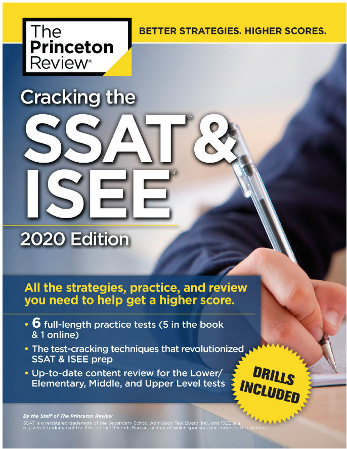 Cracking the SSAT & ISEE, 2020 Edition - The Princeton Review | 6 full-length practice tests