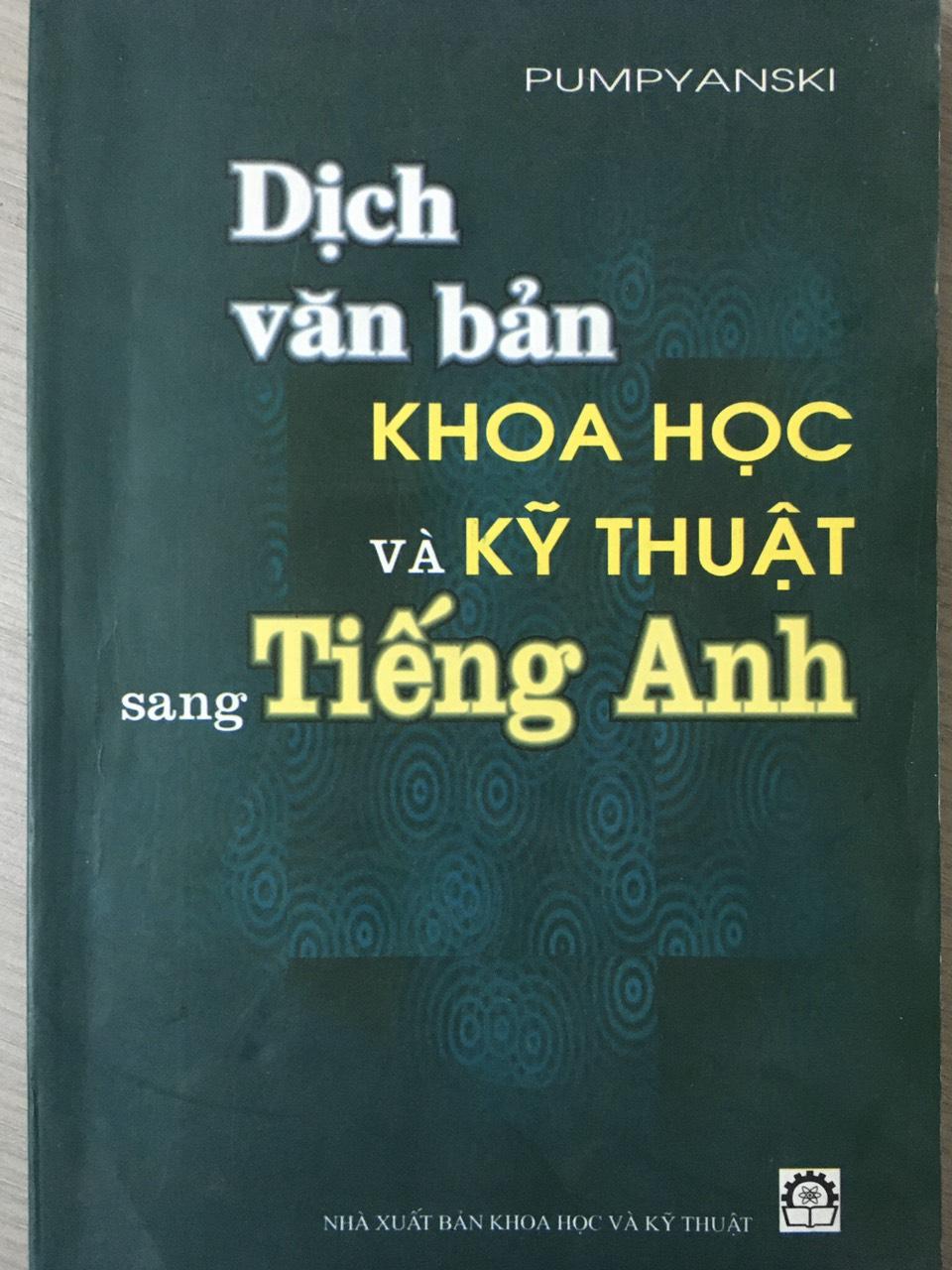 Dịch văn bản khoa học và kỹ thuật sang tiếng anh | Pumpyanski