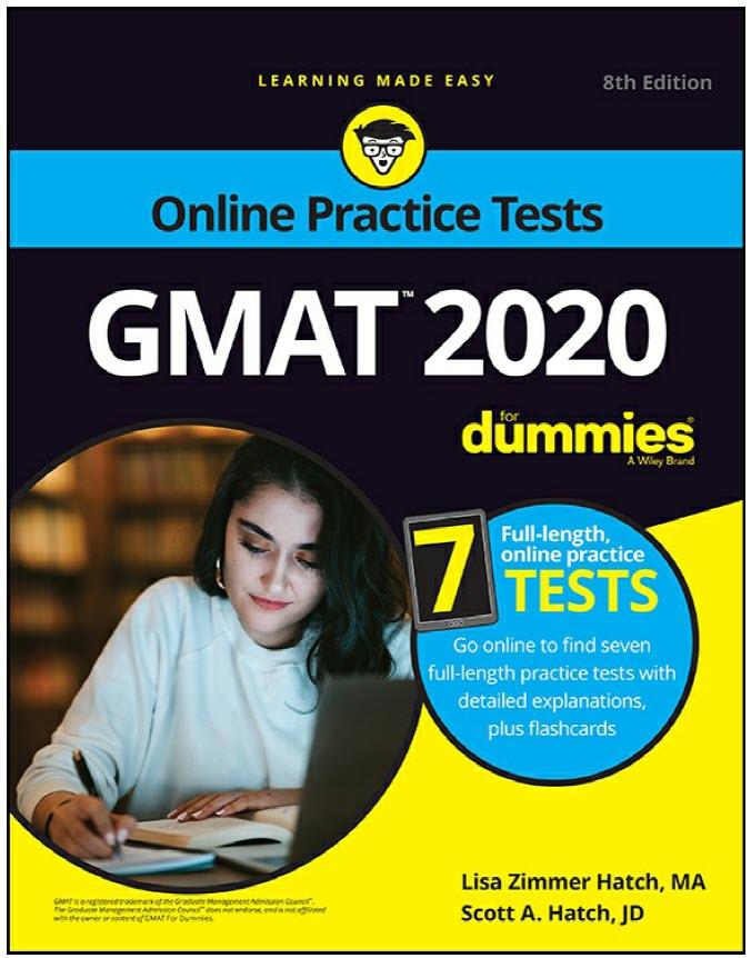 GMAT For Dummies 2020 by Lisa Zimmer Hatch, Scott A. Hatch