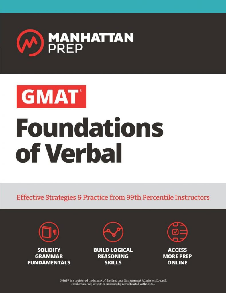 GMAT Foundations of Verbal Practice Problems in Book and Online 7th.ed