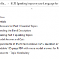IELTS Speaking: Improve your Language for Bands 7.0+ (Udemy video course)