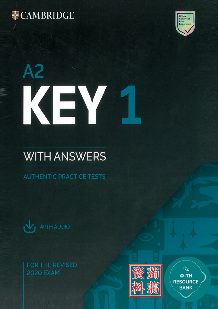 KET 2020 - Cambridge Key 1 (A2) with answers - authentic practice tests (cambridge ket 2020) for the revised 2020 exam