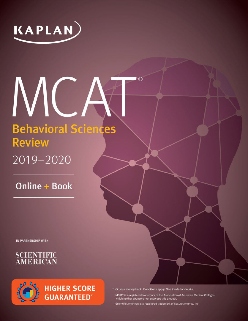 Kaplan MCAT behavioral Sciences Review 2019 - 2020 Online + book