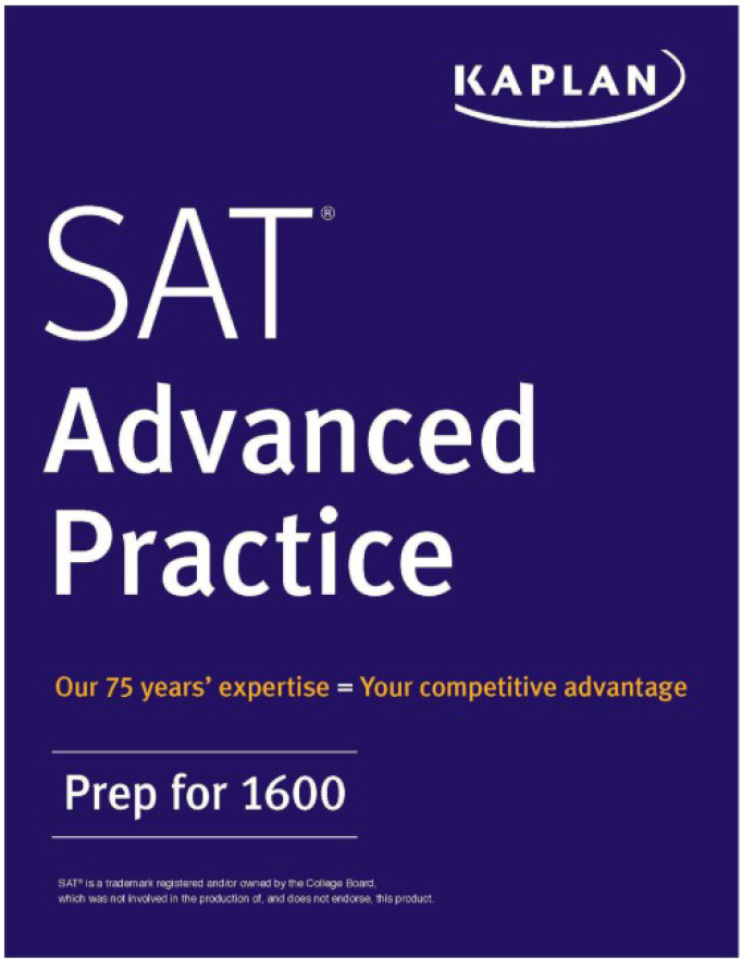 Kaplan SAT advanced practice, prep for 1600