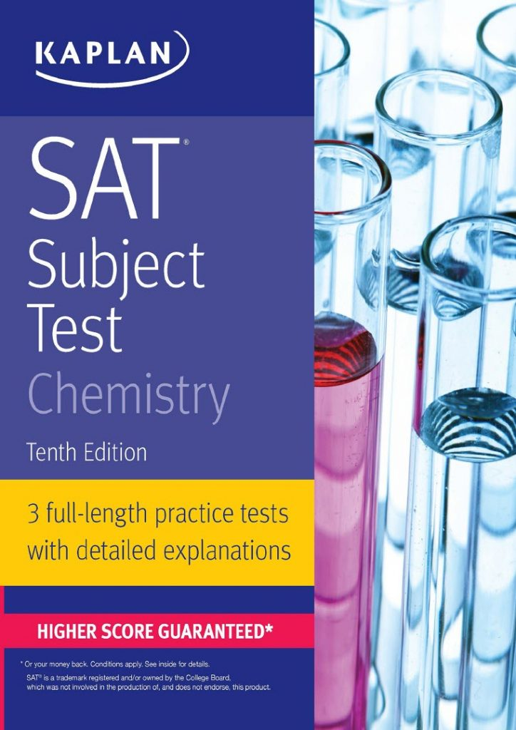 Kaplan SAT subject test chemistry, 3 full-length practice tests with detailed explainations