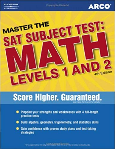 Master the SAT subject test: Math Levels 1 and 2 Arco | Thomson Peterson's 4th
