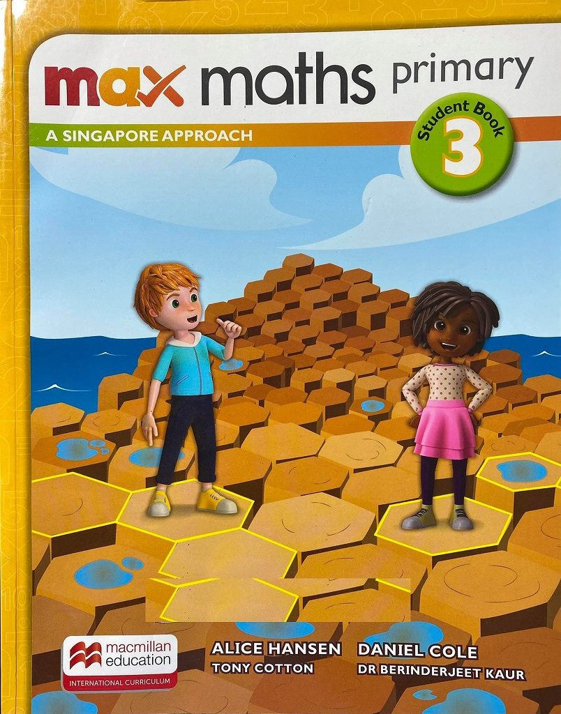 Max maths primary, student book 3, Macmillan, Alice Hansen, Daniel Cole, Tony Cotton, Dr Berinderjeet Kaur