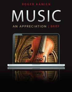 Music: An Appreciation Textbook