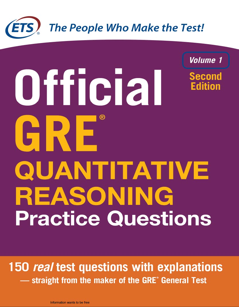 Official GRE Quantitative Reasoning Practice Questions, Second Edition by Educational Testing Service