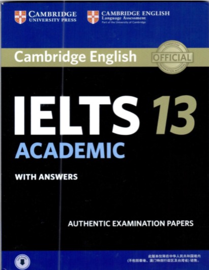Cambridge Ielts 13 bản đẹp, không watermark authentic examination papers official 2017
