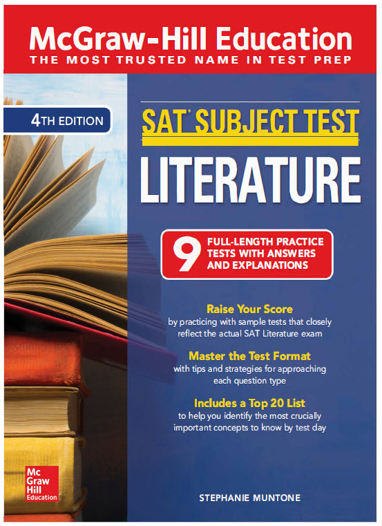 McGrawhill SAT subject test Literature (9 full-length practice tests with answers and explains) 4th
