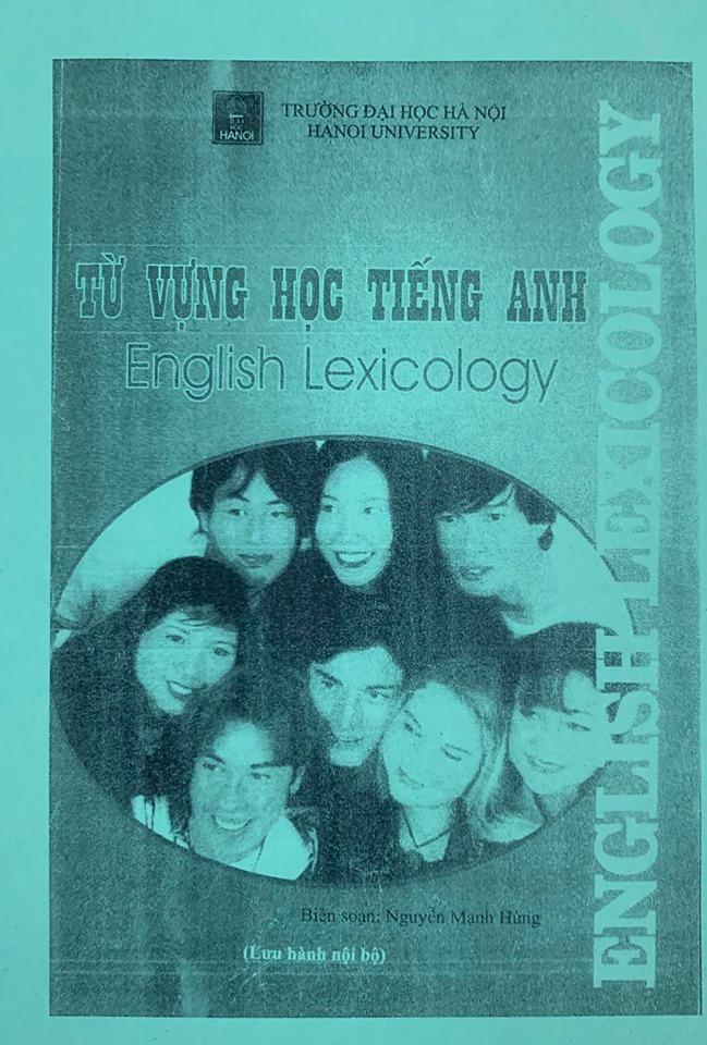 Từ vựng học tiếng anh, English Lexicology, Nguyễn Mạnh Hùng