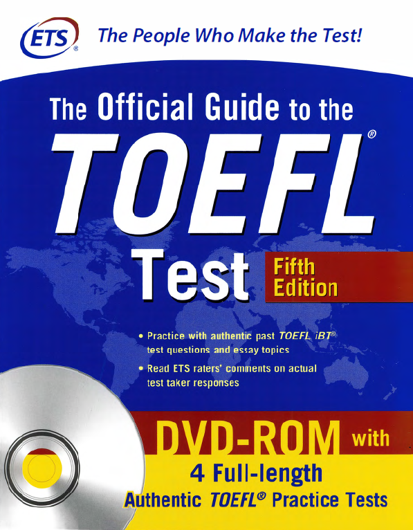 The Official Guide TOEFL 5th Edition (PDF+AudioCD) | ETS | 4 full-length authentic toefl practice tests