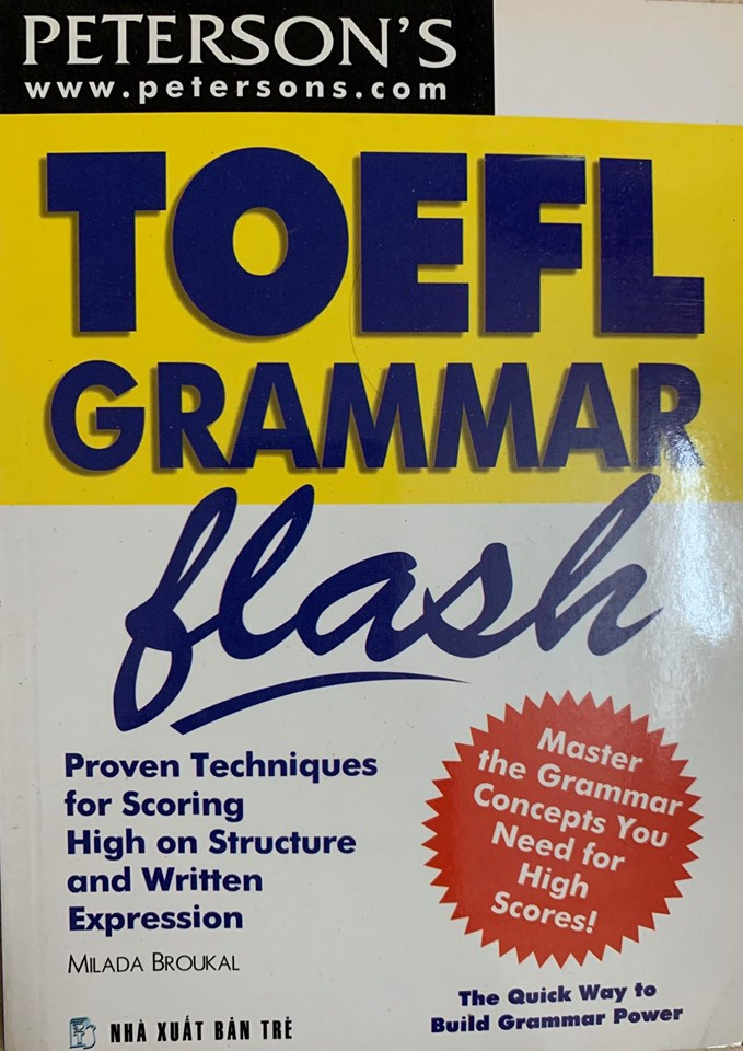 Bộ 3 cuốn Toefl Flash của Peterson's (toefl reading flash, toefl word flash, toefl grammar flash)
