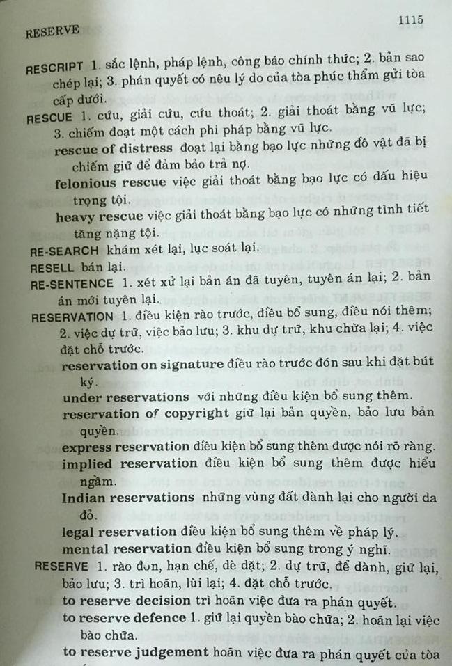 Từ điển pháp luật Anh - Việt (legal dictionary) NXB Thành phố Hồ Chí Minh