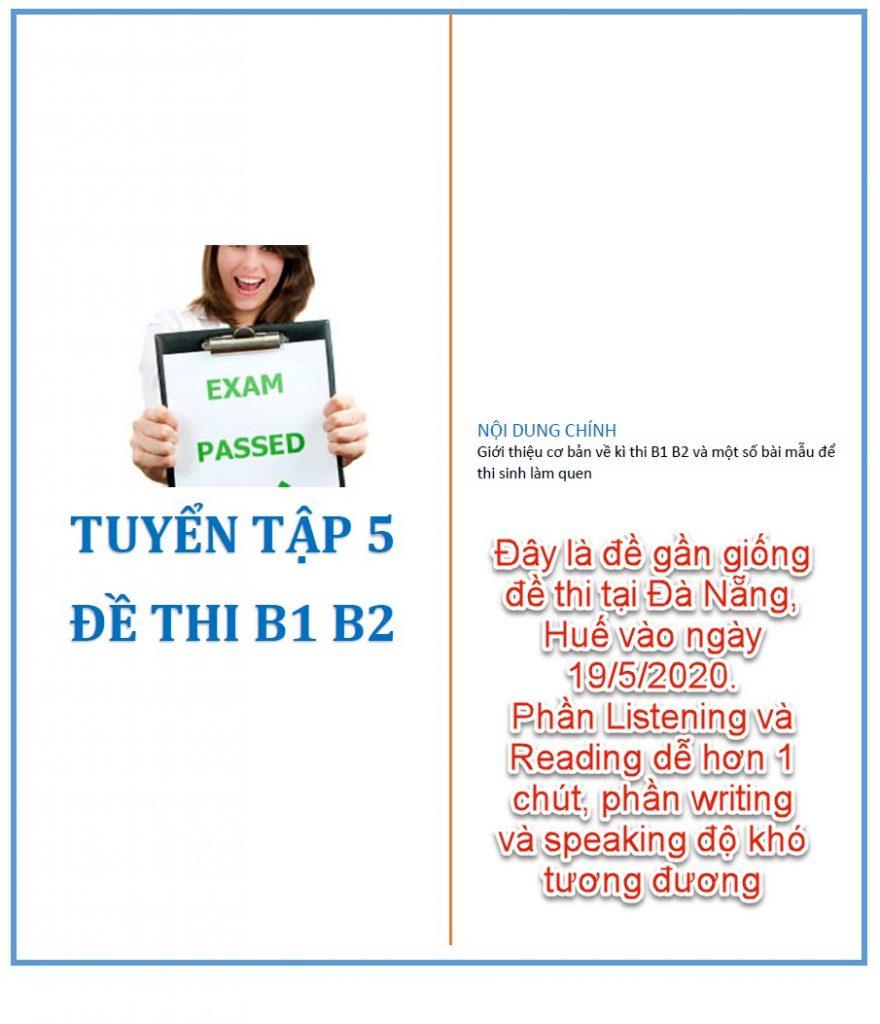 Tuyển tập 5 đề thi B1, B2 (Vstep) tháng 5-2020