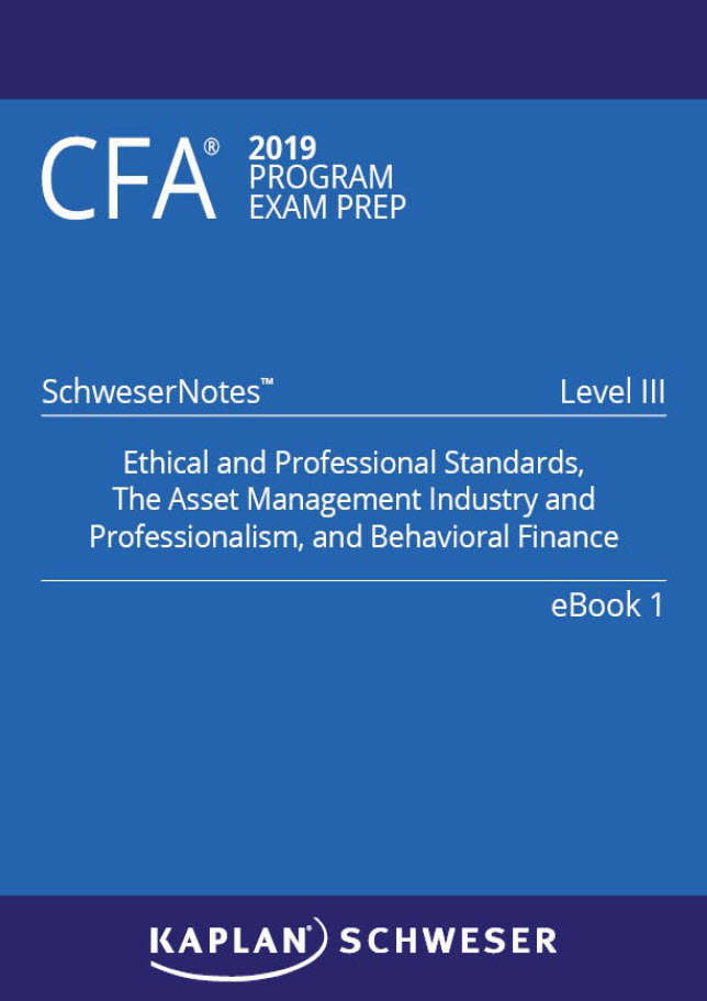 CFA 2019 Level 3 Schweser Notes book 1 book 2 book 3 book 4 book 5