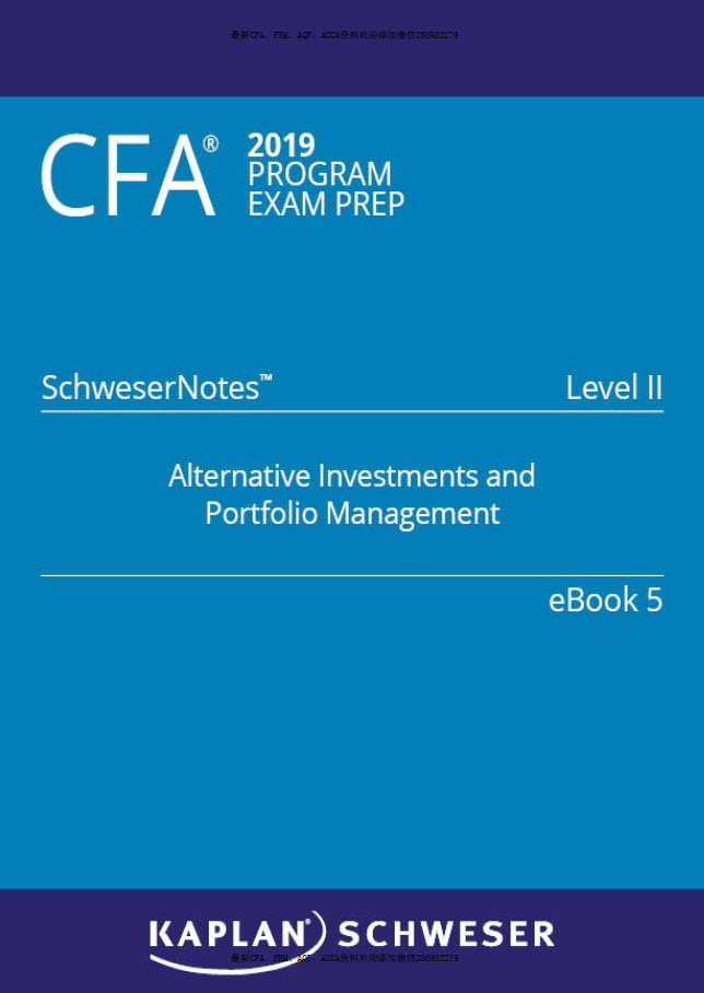 CFA 2019: Schwesernote level 2 5books (level II)