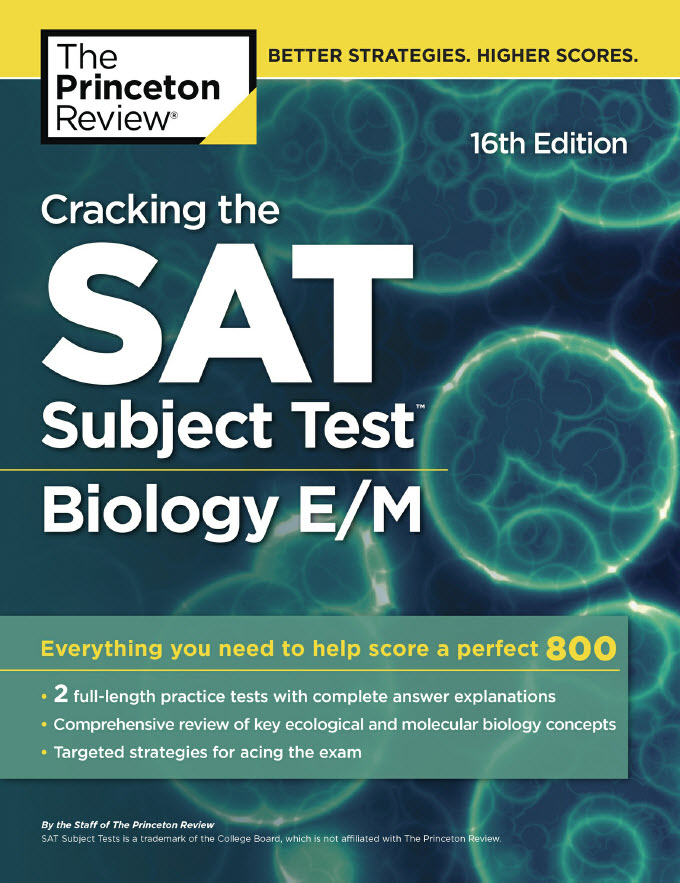 Cracking the SAT subject Test Biology E/M 16th Edition | The princeton Review