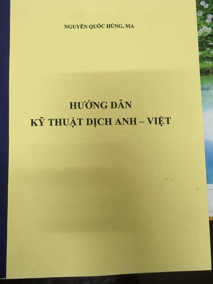 Hướng dẫn kỹ thuật dịch anh - việt | Nguyễn Quốc Hùng Ma