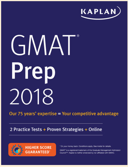 Kaplan GMAT Prep 2018: 2 Practice Tests + Proven Strategies + Online