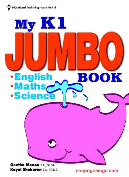 My k1 jumbo book by Geetha Menon, Kayal Shekaran (English, Maths, Science)