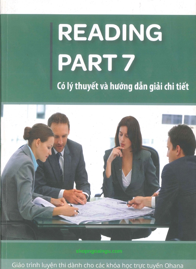 Giáo trình luyện thi Toeic: Reading Part 7, có lý thuyết và hướng dẫn giải chi tiết